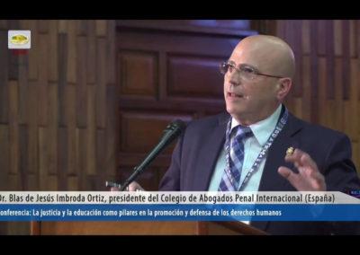 Blas Jesus Imbroda - Presidente colegio abogados penal internacional España